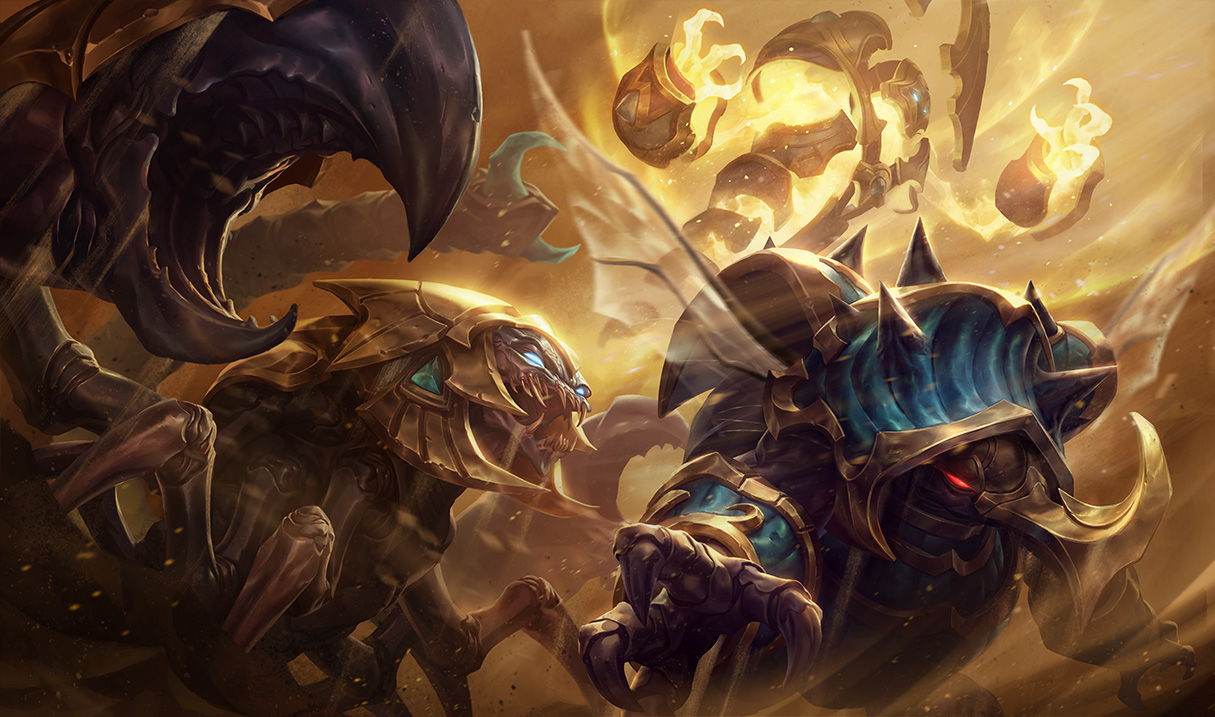 Guardian of the Sands Rammus Splash Art