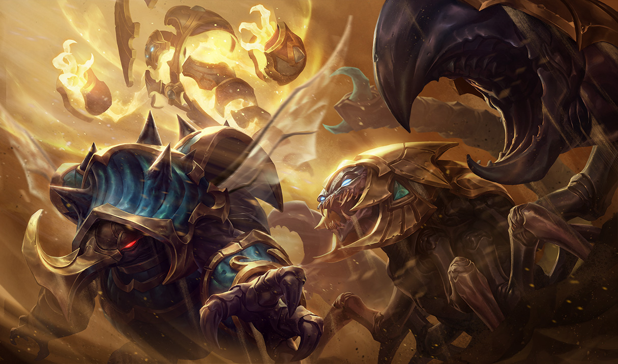 Guardian of the Sands Skarner Splash Art