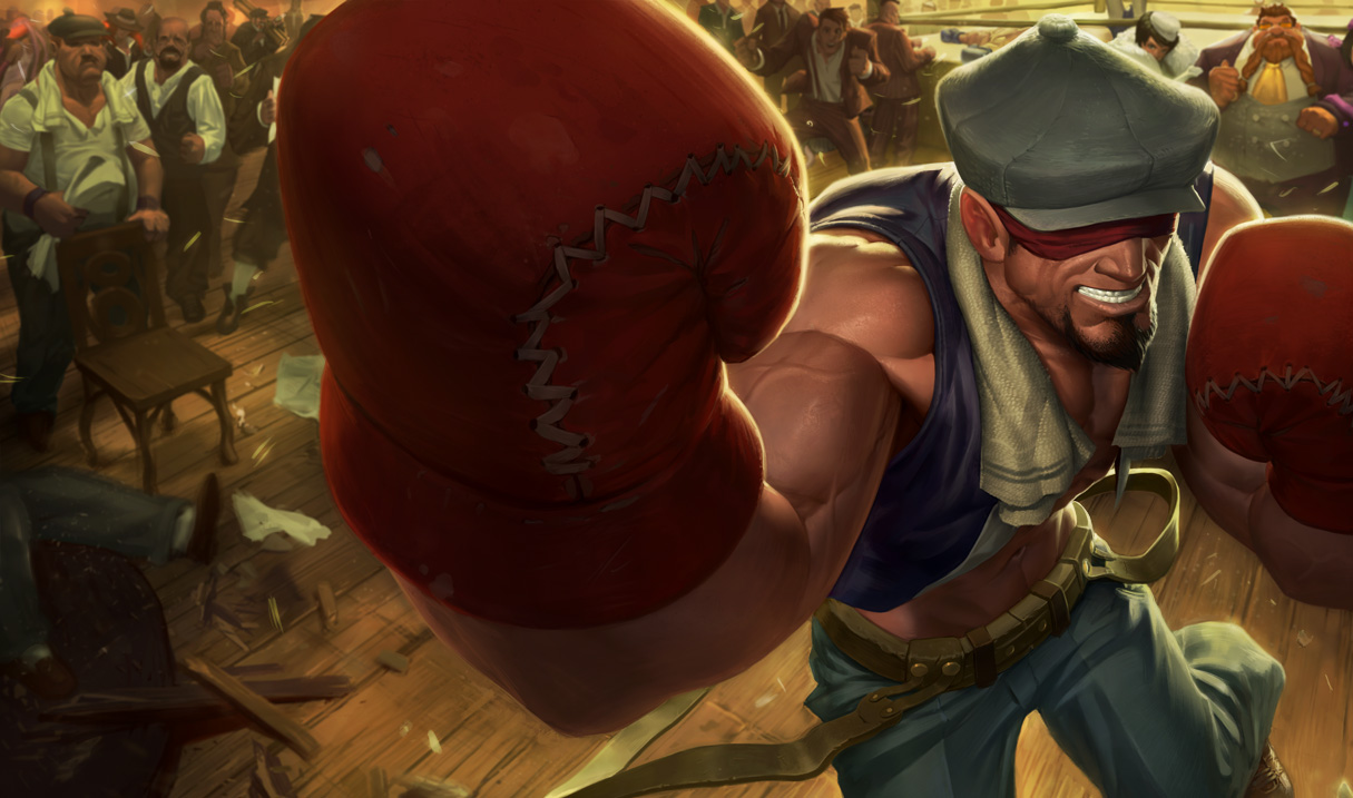 Knockout Lee Sin Splash Art