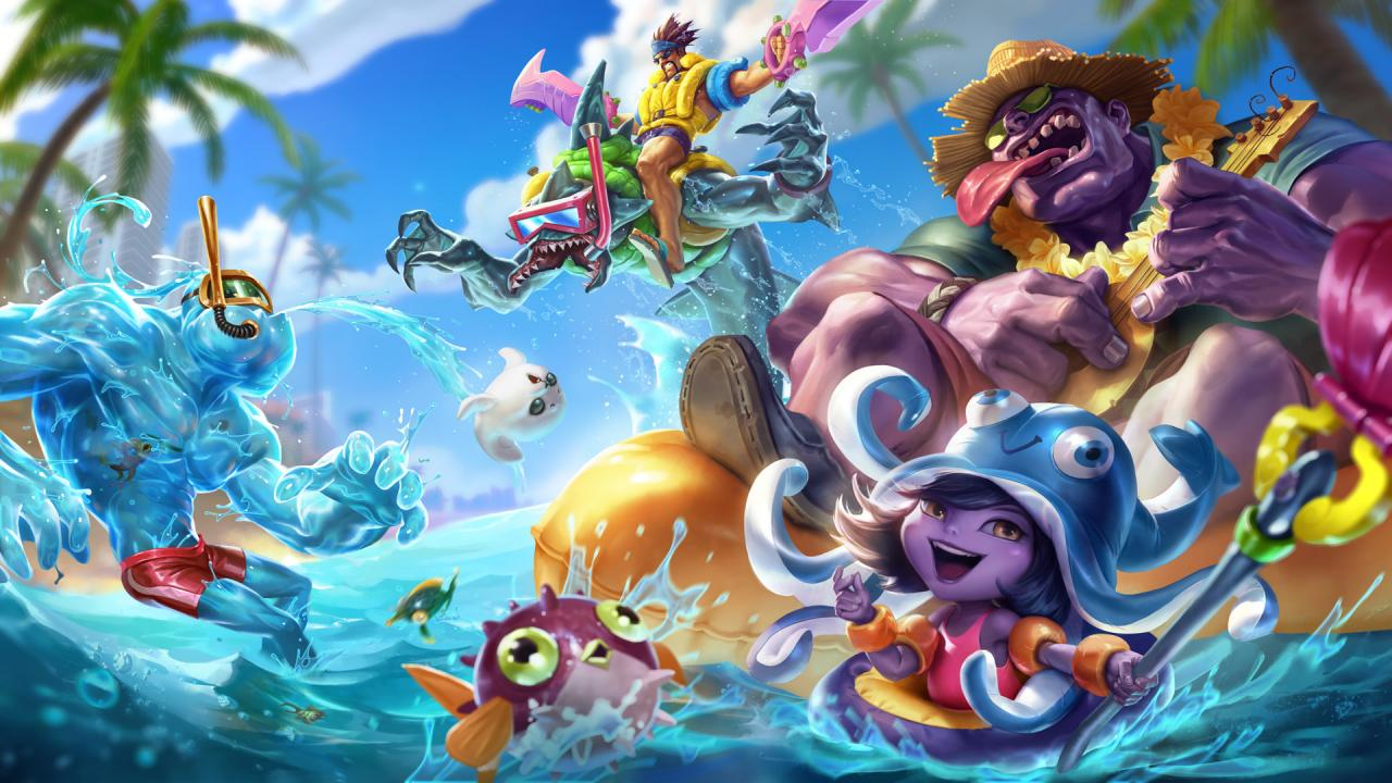 Pool Party Splash Art